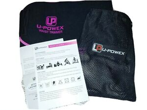 NEW U-Powex waist trimmer medium black and pink  with storage bag