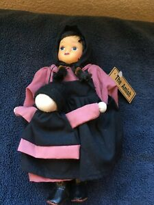 "Amish Springford 9"" Doll with little Doll"
