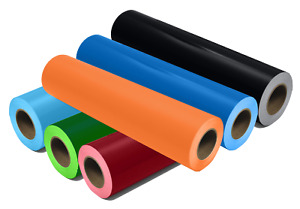 """12"""" x 5ft. / 12"""" x 10ft. Roll Glossy Vinyl - Different Colors"""