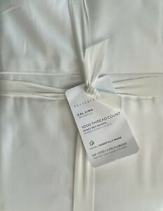 Pottery Barn 1000 Thread Count Sateen Cal King Sheet Set In White