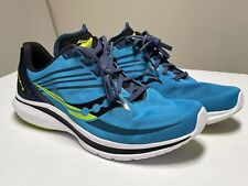 New listing Saucony Mens Kinvara 12 Blue Running Shoes Lace Up Low Top Size 10 W S20620-55
