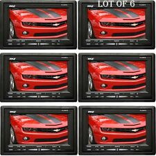 LOT OF (6) Pyle PLVHR75 7-Inch High Resolution TFT Wide Screen Headrest Monitor