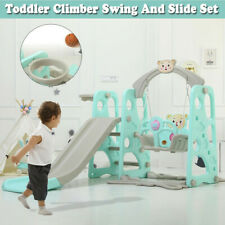 Toddlers Safety Swing Slide Set Playground For Kids Indoor Outdoor Fun Activity