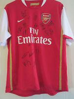 Arsenal 2006-2008 Squad Signed Home Football Shirt COA /40086