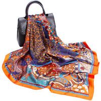 "Women Square Scarf Bandana Tree Print Shawl Hijab Head Neck Stole Turban 35""*35"""
