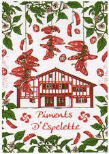 French Kitchen Dish/Tea Towel  Piments D'espelette 100% Cotton Made In France