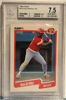 1990 Fleer #420 Ken Griffey Sr. Beckett BVG Graded 7.5 Cincinnati Reds