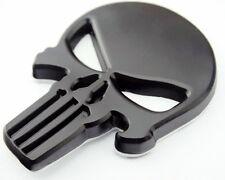 HL-SK For Harley Davidson JEEP F150 Punisher Skull FLAT Metal Trunk Emblem BADGE