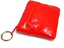 Nos Vintage Red Compact Travel Coin Purse Bag Key Chain Folding Mini Shopping