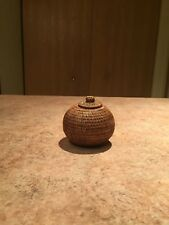 VINTAGE CHINESE BAMBOO CASE ARTIFACT FROM THAILAND