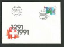 Suisse FDC 1991 oeuvre originale Croix suisse oblit. Bern /L3305