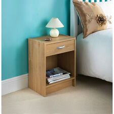 New Oak Finish Copenhagen Bedside Cabinet