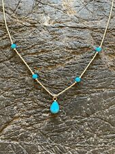 American Indian Sterling Sipver Turquoise Necklace
