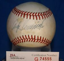 ANDY SEMINICK JSA AUTOGRAPH NATIONAL LEAGUE BASEBALL AUTHENTIC SIGNED