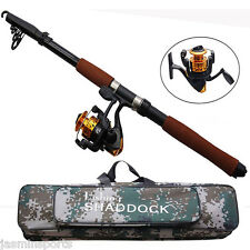 2.4m Spinning Fishing Rod Reel Combo Portable Adjustable Fishing Rod & Reel Set