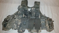 LIGHTWEIGHT MOLLE II ACU FLC ADJUSTABLE FIGHTING LOAD CARRIER W/ POUCHES JJ 1026