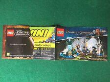 Q21) LEGO PIRATES OF CARIBBEAN 4192 CATALOGO MONTAGGIO FOUNTAIN Brochure KATALOG
