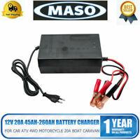 MASO 20A automatisches Batterie Ladegerät AGM GEL CALCIUM Auto LKW Batterie