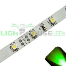 Green - PLCC2/3528 12V LED Strip - Adhesive Backing - 5m Roll / Reel