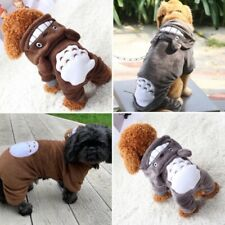 FLEECE DOG PET CAT PUPPY GREY BROWN ANIMAL PJS PYJAMAS PLAY SUIT JUMPER HOODIE!
