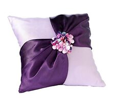 Lillian Rose Purple Radiant Flower Wedding Ring Bearer Pillow