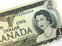 1973 Canada One 1 Dollar FA Circulated Lawson Bouey Replacement Banknote R006