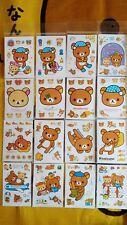 "*Party Favors* 4"" Loose SAN-X RILAKKUMA PVC 16 Sheets Sticker set #3"