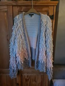 New Look Cardigan Jacket Size Large 16 - 18 Shaggy Boho Festival