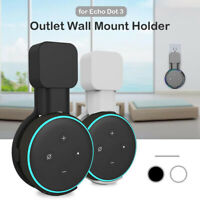 Outlet Wall Mount Hanger Holder Stand Bracket For Amazon Echo Dot 3 3rd Gen