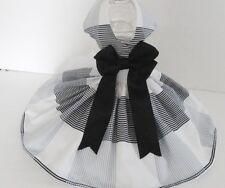 Dog Dress/Harness BLACK & WHITE  FREE SHIPPING