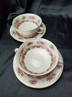 Rosedale by Chateau Czechoslovakia china Teacup and saucer pair saucer gold trim