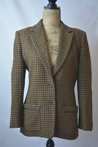 Talbots - Brown 2-Tone HOUNDSTOOTH Wool-Silk blend 2-Button blazer, size 6