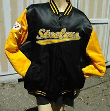Pittsburgh Steelers XL NFL Reversable  Jacket REEBOK GRIDIRON VTG 90s NYLON PUFF