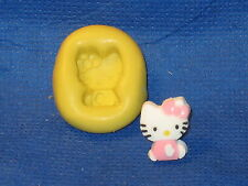 Hello Kitty Sitting Silicone Mold Resin Clay Candy #522 Chocolate Fondant Cake