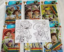 12 Disney Pixar Toy Story 3 Coloring Books & 48 Crayons Party Bag Filler Supply