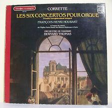 """33T SIX CONCERTOS ORGUE Disque LP 12"""" CORRETTE F-H HOUBART BLANCS-MANTEAUX PARIS"""