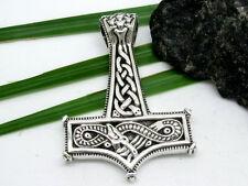 MACIZO Thor martillo colgante de plata de ley 925 Mjöllnir Dragón NUDOS CELTA