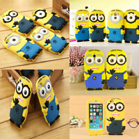 3D Despicable Me Minions SOFT SILICONE BACK CASE COVER FOR Mobile Phone