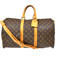 LOUIS VUITTON KEEPALL 45 BANDOULIERE TRAVEL HAND BAG MONOGRAM M41418 tos 39586