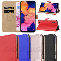 CASE FOR SAMSUNG GALAXY A10 / M10 REAL GENUINE LEATHER SHOCKPROOF WALLET FLIP