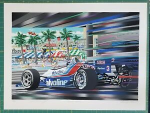 TUNNEL VISION Limited Edition Serigraph by Randy Owens-Signed by Al Unser, Jr.