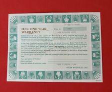 ROLEX 67243 Oyster Perpetual Guarantee Warranty Certificate 1980s