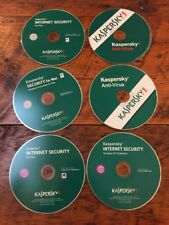 Lot of 6 Kaspersky Antivirus Internet Security Mac PC Software Discs CDs