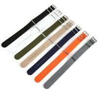 Replacement Canvas Nylon Military Striped Wrist Watch Bands Strap 18/20/22mm