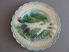 Ancienne assiette barbotine SALINS décor asperge 19eme superbe