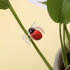 10x Cute Ladybug Orchid Clips Plant Stem Stalks Vines Grow Upright Clips