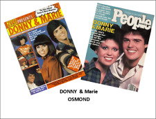 2  Miniature 'DONNY & MARIE OSMOND'  Magazines Dollhouse size1:12 scale OPENING