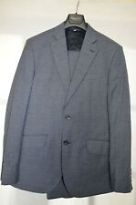 Hardy Amies London BRINSLEY Slim Fit Grey Wool & Cotton Check Suit UK 40R EU 50R