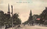 Hand Colored Postcard of Bird Street in Oroville, California~126968
