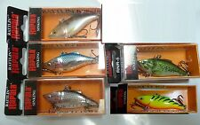 5 Rattlin Rapala - Fire Tiger, Silver, Shad, Bass, Silver Blue RNR05